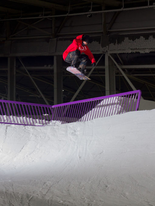 Straight Air on a Snowboard