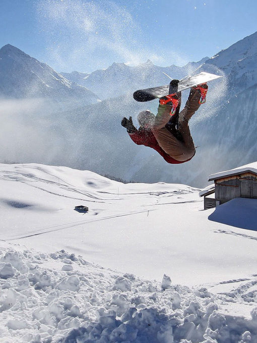 Backflip on a Snowboard