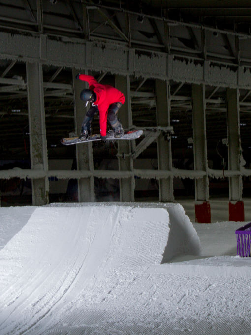 Backside 180 on a Snowboard